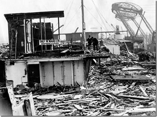 O que parecia ser o RMS Olympic