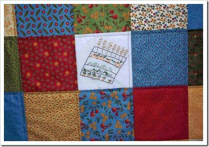 School quilt garden stitchery