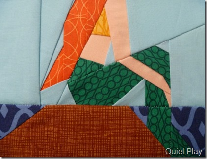 Hello Pilgrim Jewel for scales paper pieced Little Mermaid
