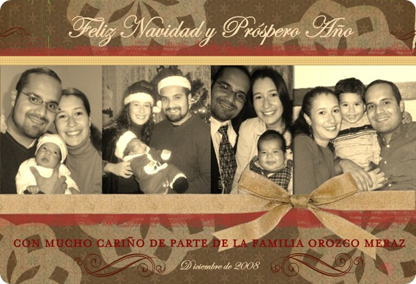 081222 Tarjeta Navidad Formal Familia Orozco Meraz