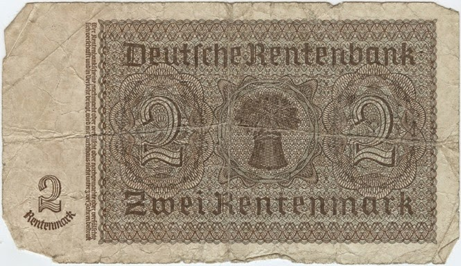 German Bank Note1 Backk