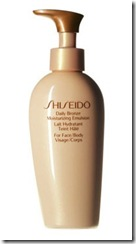 Shiseido Moisturiser with Fake Tan