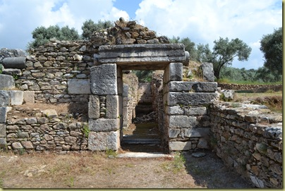 Nysa Bouleuterium  doorway showing rebuild