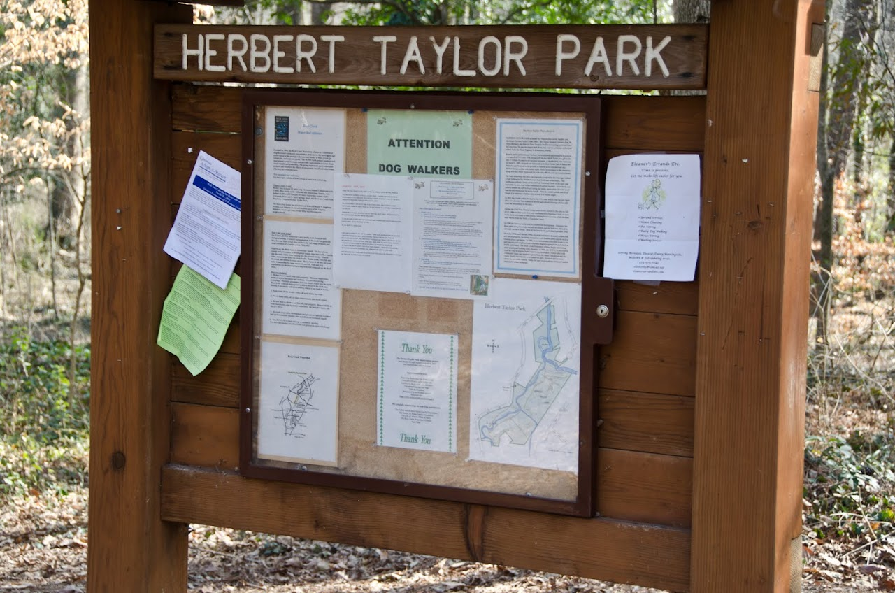 Herbert Taylor Park sign