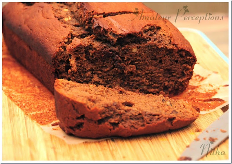 Chocolate Banana  Nut bread 1