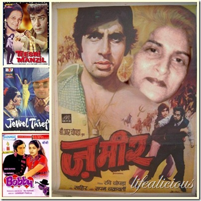 Bollywood Retro Theme Personalise Posters