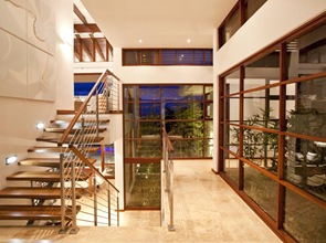 diseño interior escaleras madera house pollock