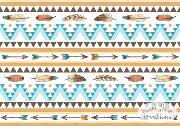 2015 March 30 Spoonflower southwest baby bedding contest surface pattern design fabric arrow feather hazel fisher creations 1