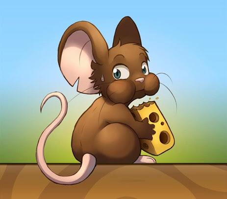 desenho rato comendo queijo