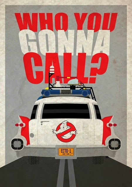 Ghostbusters Ecto 1  Artwork by Places and Films