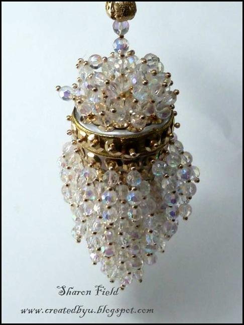 2.Antique Acorn Tea Strainer Ornament Close up