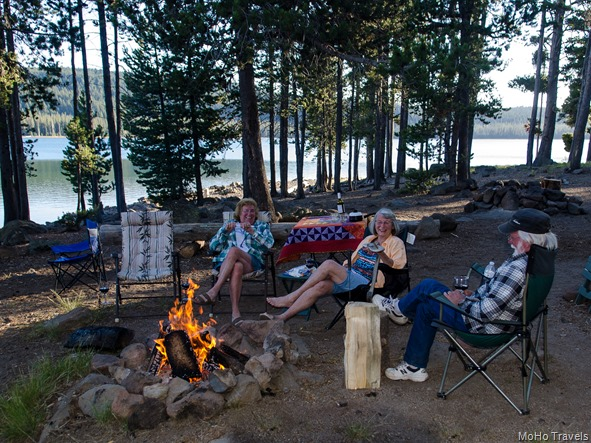 campfire time at Medicine Lake