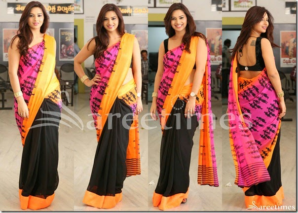 Isha_Chawla_Half_and_Half_Saree(1)