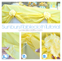 Sunburst Tablecloth Tutorial