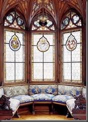 camera da letto vetrate policrome