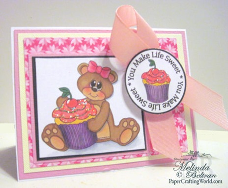 cricut svg bear n cupcake digital stamp card idea 500