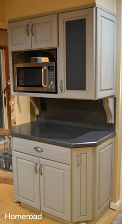 paris gray kitchen cabinet