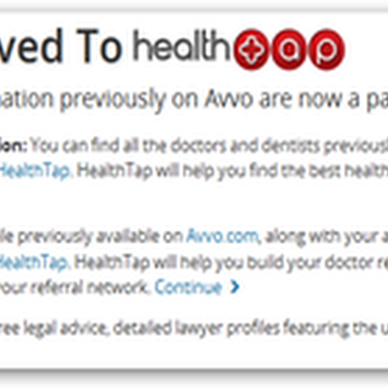 HealthTap Buys Avvo Doctor Rating and Referral Business and Website