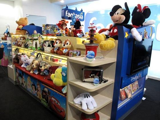 Quiosque Fantasia - Franquia de produtos Disney