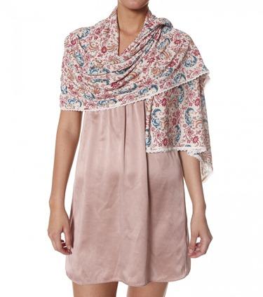 #954 Jersey girl scarf dark pink