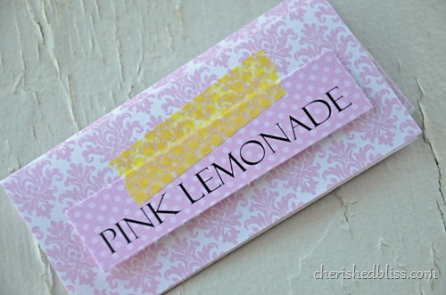 Pink Lemonade Label