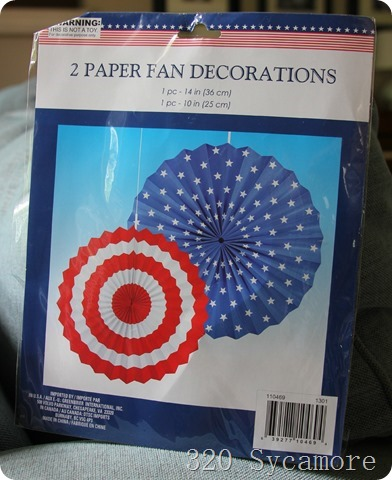 dollar store paper fans