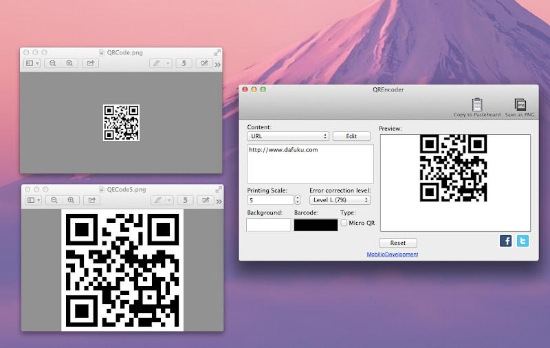 Mac QR Code soft7