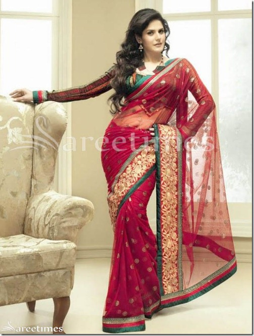 Zarine_Khan_Pink_Saree