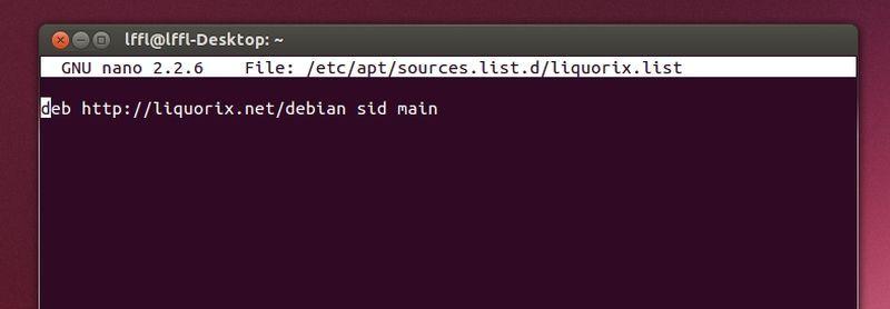 Repository  Kernel Liquorix in Ubuntu