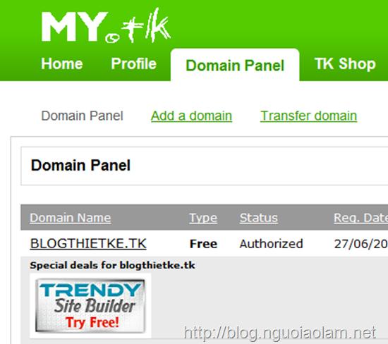 Đăng ký và sử dụng tên miền dot.tk phương án tối ưu cho blog bị VNPT chặn