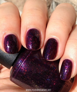 China Glaze Howl You Doin' + OPI Merry Midnight