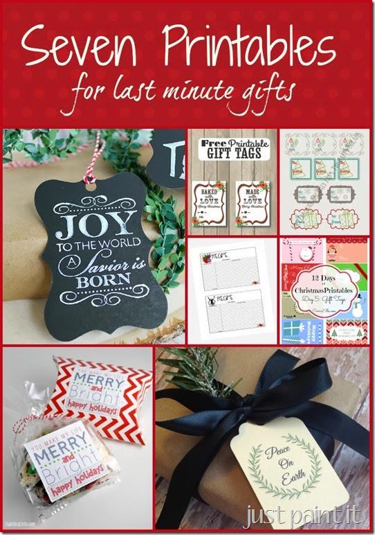 Free gift tags printables