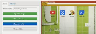 cara membuat theme Google Chrome