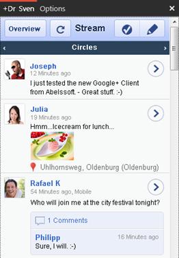 Google Plus Desktop - GClient