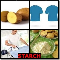 STARCH- 4 Pics 1 Word Answers 3 Letters