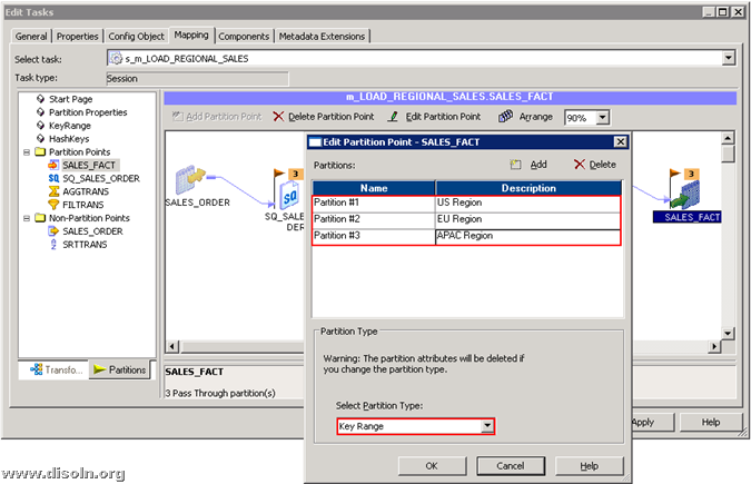 Implementing Different Informatica PowerCenter Session Partitioning Algorithms