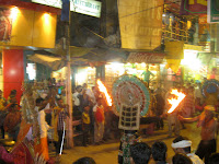 Spontaneous street celebration and performance, Varanasi