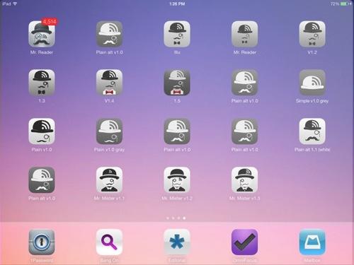 Mr reader ipad rss reader icon design history invasion screen