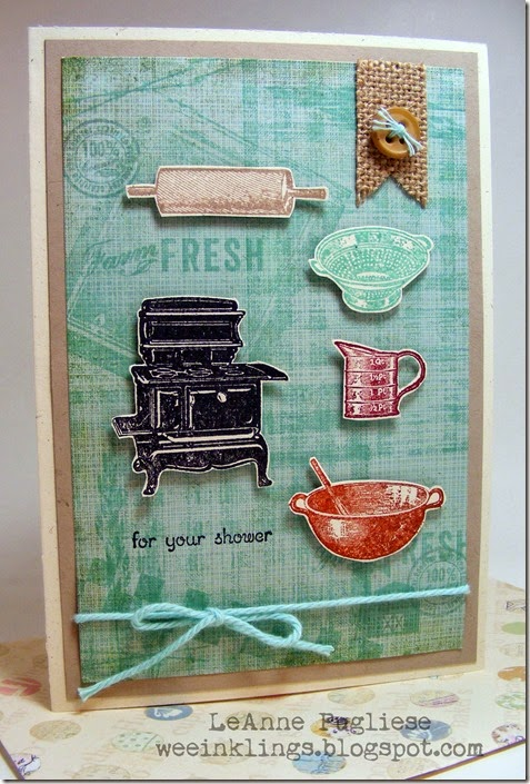LeAnne Pugliese WeeInklings Kitchen Shower Card Stampin