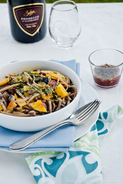 Buckwheat Linguine with Aubergine and Mango (0002) by Meeta K. Wolff