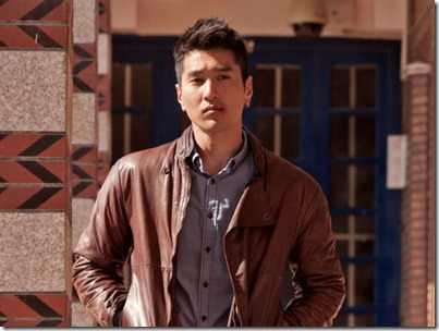 Mark Jau: Brown leather jacket x chambray shirt, First Time