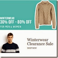 Get Minimum 30% off to 80% off on Winterwear + Extra 10% Cashback on Rs. 1999 on Myntra