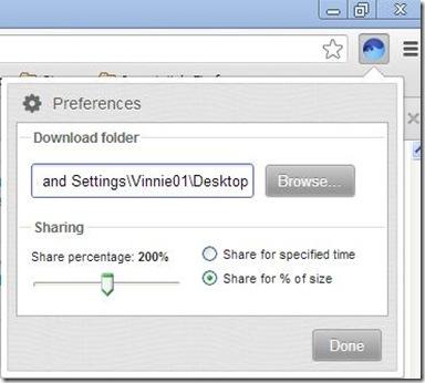 BitTorrent Surf destinazione salvataggio torrent