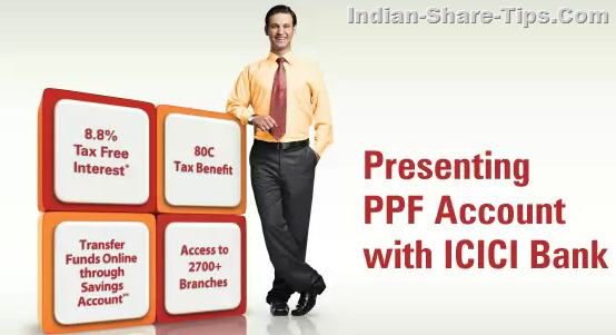 icici bank ppf account