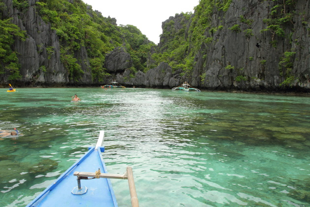 The beautiful Small Lagoon area off El Nido, Philippines