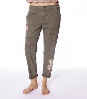 #587 Peace army pants
