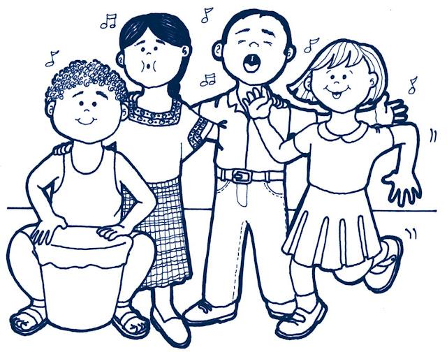 Dibujos Para Colorear De Niños Cantando Y Bailando ~ Ideas Creativas ...
