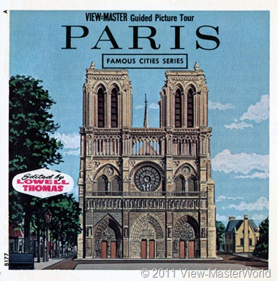 View-Master Paris, France (B177), booklet cover