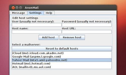 AnonMail su Ubuntu - presets