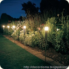 Фонари и светильники в декоре сада